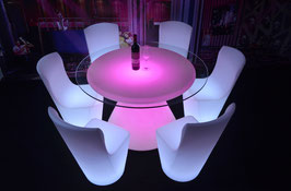 Table de bar ronde LED - RGB