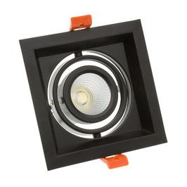 Projecteur encastré orientable carré