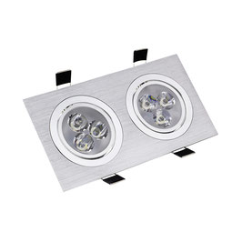 Downlight encastré rectangle aluminium