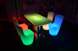 Table de bar rectangle LED - RGB