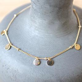Silberarmband mit Miniplättchen