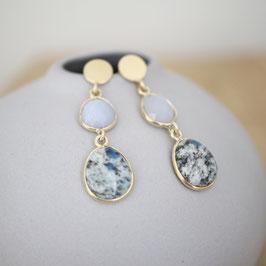 Ohrhänger mit zwei Steinen