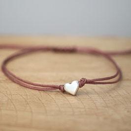 Herz aus DQ Metall -silber-