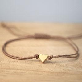 Herz aus DQ Metall -gold-