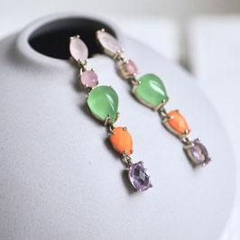 Ohrhänger mit bunten Steinen -Rut-