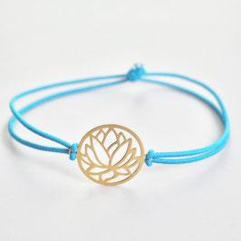 Lotusblüte 925 Silber Gummiband