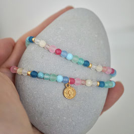 buntes Achatarmband in pastell -Anni-