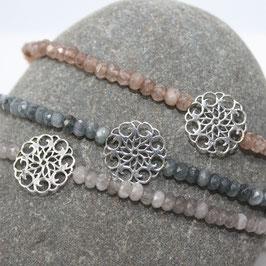Achatarmband mit Mandala