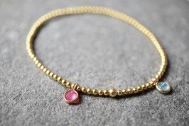 vergoldetes Armband mit echten Steinchen