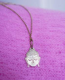 lange Goldkette mit Buddha