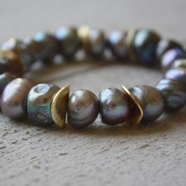 Goldscheiben in Perlen