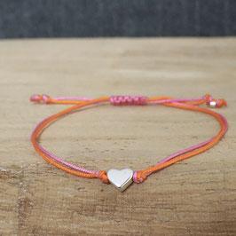 Herz aus DQ Metall -silber- bicolor