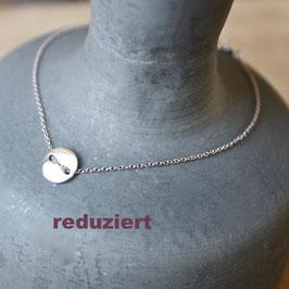 Silberarmband mit Plättchen