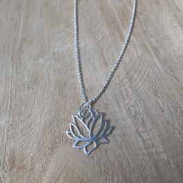 Kugelkette mit Lotusblüte 925 Silber