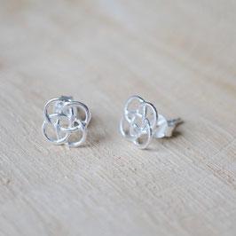 Blume des Lebens Ohrstecker 925 Silber