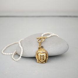 Reiskornperlenkette mit Buddha