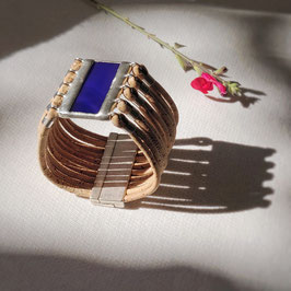 Bracelet manchette UNO bleu majorelle
