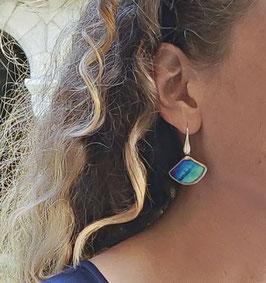 Boucles DICE bleu irisé