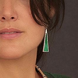 Boucles ASSIA vert émeraude