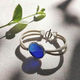 Bracelet OPS réversible bleu irisé
