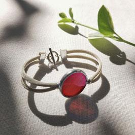 Bracelet OPS rouge vermeil