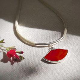 Collier DICE rouge vermeil