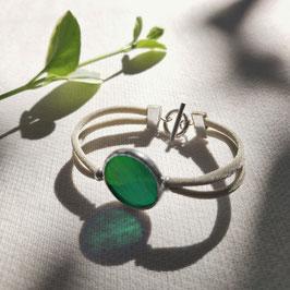 Bracelet OPS vert émeraude