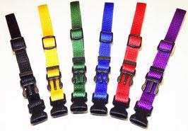 Welpenhalsbänder / ID- Halsband hochwertige Ausführung, 6 Stück in unterschiedlichen Farben