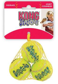 Kong Ball 3er  Set mit Quietscher, Zahnschonend