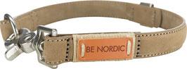 Be Nordic Lederhalsband Sandfarben