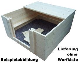 1/2 Dach aus Fichtenholz