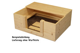 1/2 Dach aus Fichtenholz für 60x60 Kiste