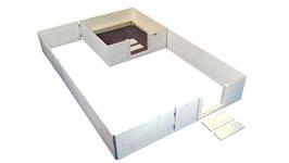 Set Wurfkiste 140x140 mit Auslauf XL