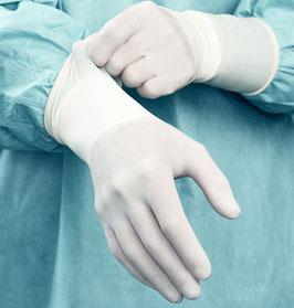 OP-Handschuhe, extralang, Paarweise steril verpackt