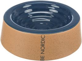 Napf Keramik blau/beige