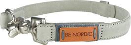 Be Nordic Lederhalsband Grau