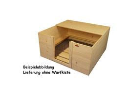 1/2 Dach aus Fichtenholz für Kiste  140x140, 60cm hoch