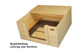 1/2 Dach aus Fichtenholz für 80x80 Kiste