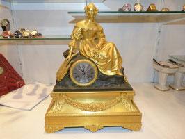 Pendule Bronze Dorée De Leroy