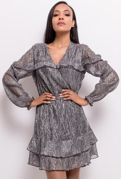 Robe gris métallisé