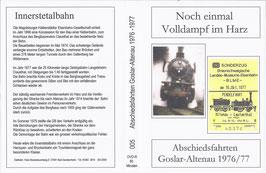 Noch einmal Volldampf im Harz / Abschiedsfahrten auf der Innerstetalbahn im Jahr 1976/77