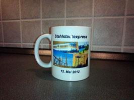 Kaffeebecher Stahlstadtexpress Sonderfahrt 12. Mai 2012 - Tasse bunt bedruckt