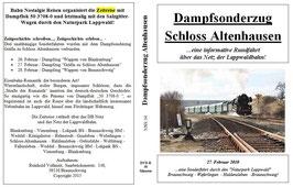 Dampfsonderzug Gräfin zu Schloß Altenhausen - 27. Februar 2010 - BNR Sonderfahrt