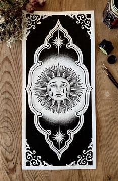 ART PRINT «SAD SUN»