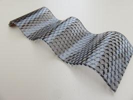 Acryl Wellplatten 76/18 - Graphit Wabenstruktur - 3mm Stärke