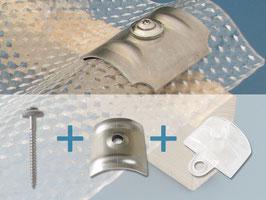 Komplettset für Wellplatten 76/18 - 3-teilig - 100 Stück