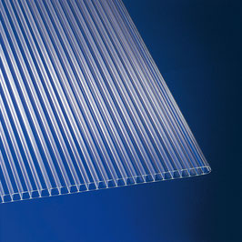 8mm Stegplatten - Glasklar - Doppelstegplatten - Polycarbonat