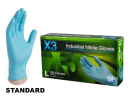 Powder-free, Blue Nitrile Gloves
