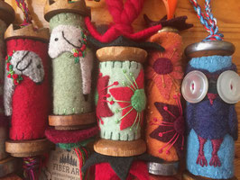 Textile Bobbin Ornaments