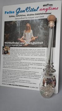 GemVital anytime Glas-Edelsteinstab mit Edelsteinen - Mischung: Wohlbefinden und innere Reinheit
